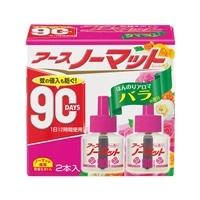 アース製薬 アースノーマット 取替えボトル90日用 微香性 バラの香り 2本入