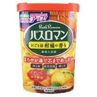 アース製薬 バスロマン にごり浴 柑橘の香り 600g