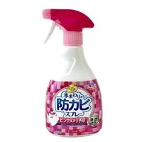 アース製薬 らくハピ 水まわりの防カビスプレー ピンクヌメリ予防 ローズの香り 400ml
