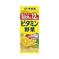 【ケース販売】伊藤園 ビタミン野菜 紙パック 200ml×12本