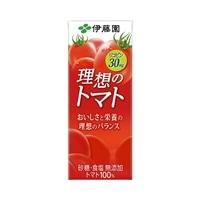 【ケース販売】伊藤園 理想のトマト 紙パック 200ml×12本