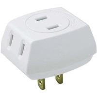 朝日電器 ELPA トリプルタップ 3個口 ホワイト LP-A1530-WH