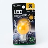 LEDミニボール形 黄色 G30口金17 G243