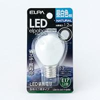 朝日電器 エルパ ELPA S形ミニ球タイプ LDA1N-G-E17-G450 昼白色相当