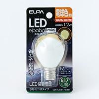 LEDS形ミニ球形電球色口金E17 G451