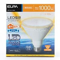 朝日電器 エルパ ELPA LEDエルパボール LED電球 ビームランプタイプ E26 LDR15L-M-G051 電球色