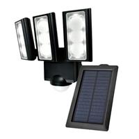朝日電器 ELPA ソーラー発電式LEDセンサーライト3灯 ESL-313SL