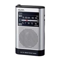 朝日電器 ELPA AM/FMポケットラジオ ER-P66F