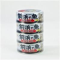 いなば 前浜の魚 かつお丸つぶし 4缶パック