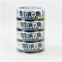 前浜の魚かつお丸つぶし にぼし入り 4缶パック
