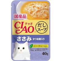 いなば CIAO だしスープ ささみ かつお節入り 40g