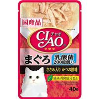 いなば CIAO パウチ 乳酸菌入り まぐろ ささみ入りかつお節味 40g