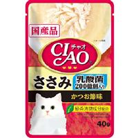 いなば CIAO パウチ 乳酸菌入り ささみ かつお節味 40g