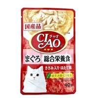 チャオパウチ 総合栄養食まぐろささみほたて味 40g