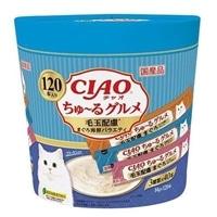 【数量限定】CIAO ちゅ〜る 毛玉配慮 まぐろ海鮮ミックス味 120本入り