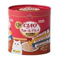 【数量限定】CIAO ちゃお ちゅ〜る グルメ 総合栄養食 まぐろ海鮮バラエティ 120本入り