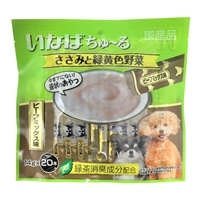 いなば ちゅ〜る ささみと緑黄色野菜 ビーフミックス味 14g×20本 犬用おやつ