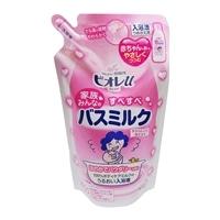 花王 ビオレu 角層まで浸透するうるおいバスミルク ほのかでパウダリーな香り 入浴液 詰替 480ml