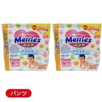 【ケース販売】花王 メリーズ パンツ Mサイズ 148枚(74枚×2個入)【別送品】