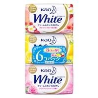 花王 ホワイト石鹸 3つの香り バスサイズ 130g×6個パック