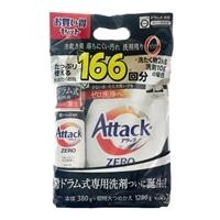 【数量限定】花王 アタックZERO ドラム式専用 本体 380g+詰替 1280g