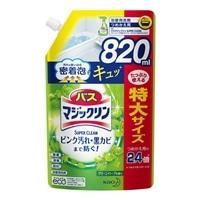 花王 バスマジックリン 泡立ちスプレー SUPER CLEAN グリーンハーブの香り 詰替 820ml