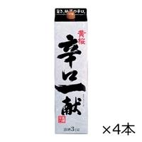 【ケース販売】黄桜 辛口一献 パック 3000ml×4本【別送品】