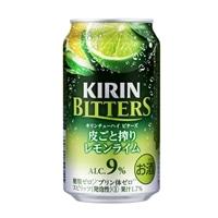 【ケース販売】キリン ビターズ 皮ごと搾り レモンライム 350ml×24本【別送品】