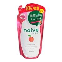 ナイーブ ボディソープ 詰替用 10%増量 なめらか桃の葉エキス