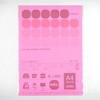 A4 カラーペーパー20枚 蛍光レッド