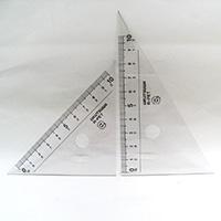 クツワ 再生PET 三角定規 10cm