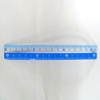 クツワ カラー定規 16cm ライトブルー