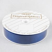 リボン オーガンジー 18M/M 紺