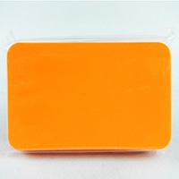 蛍光カードNO.4無地 オレンジ