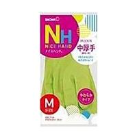 【数量限定】ビニール手袋 ショーワ ナイスハンドミュー中厚手 M グリーン