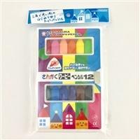 サクラ さんかくクーピーペンシル 12色 FYL12-P
