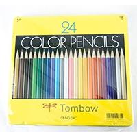 トンボ 缶入り色鉛筆 24色