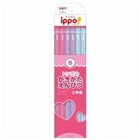 トンボ ippo! かきかたえんぴつ プレーン Pink B