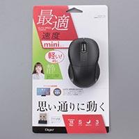 小型無線静音3ボタン LEDマウス 109BK MUS-RKT109BK