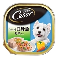 【ケース販売】シーザー ふっくら白身魚 野菜入り 100g