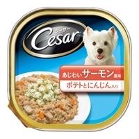 【ケース販売】シーザー サーモン風味 ポテトとにんじん入り 100g