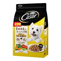 シーザードライ 成犬用 チキンと4種の農園野菜入り 小粒 3kg