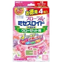 白元アース ミセスロイド クローゼット用 4個 徳用 除湿付 フローラルブーケの香り