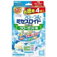 白元アース ミセスロイド クローゼット用 4個 徳用 除湿付 ホワイトアロマソープの香り