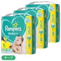 【ケース販売】P&G パンパース (テープ) Sサイズ[4-8kg] 306枚(102枚×3個)