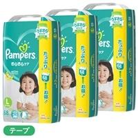 【ケース販売】P&G パンパース (テープ) Lサイズ[9-14kg] 204枚(68枚×3個)