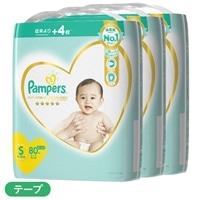 【ケース販売】P&G パンパース 肌へのいちばん (テープ) Sサイズ[4-8kg] 240枚(80枚×3個)