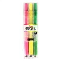 ぺんてる 蛍光ペン ハンディラインS 3色セット