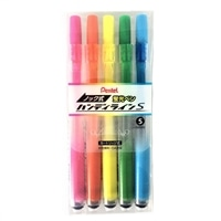ぺんてる 蛍光ペン ハンディラインS 5色セット