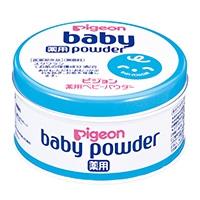 ピジョン pigeon 薬用 ベビーパウダー ブルー缶